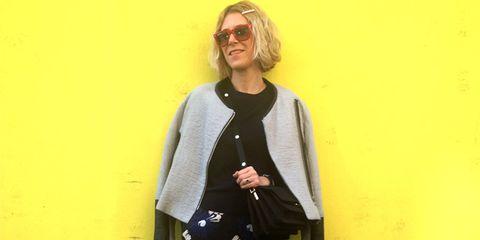 Clothing, Sleeve, Shoulder, Outerwear, Bag, Style, Street fashion, Sunglasses, Pattern, Fashion,