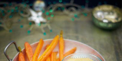 Food, Serveware, Dishware, Root vegetable, Tableware, Fried food, Ingredient, Orange, Cuisine, Dish,