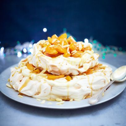 Pip McCormac's apricot and almond meringue tower recipe