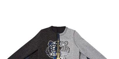 Sleeve, Textile, Sweater, Electric blue, Active shirt, Sweatshirt, Fictional character, Woolen, Clothes hanger,