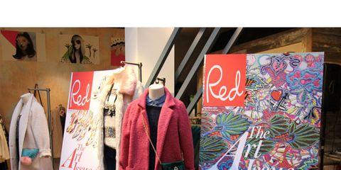 Textile, Outerwear, Retail, Coat, Jacket, Clothes hanger, Fashion, Street fashion, Easel, Fashion design,