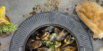 Food, Tableware, Ingredient, Seafood, Produce, Cuisine, Dish, Bivalve, Lemon, Recipe,