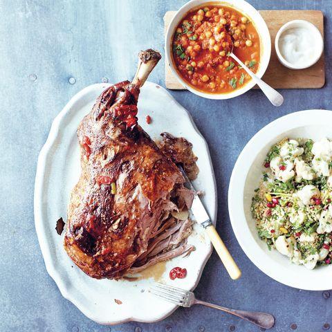 Slow roast lamb with kisir recipe