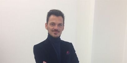 Collar, Sleeve, Trousers, Shoulder, Standing, Joint, Facial hair, Dress shirt, Formal wear, Suit trousers,