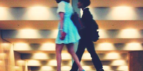 Trousers, Human leg, Dress, Holding hands, Romance, Back, Walking, Shadow, Love, Gesture,