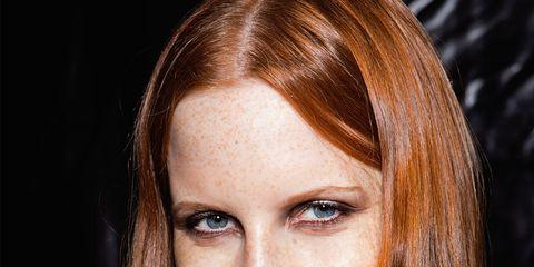 Lip, Hairstyle, Eye, Eyebrow, Eyelash, Beauty, Brown hair, Long hair, Blond, Tooth,