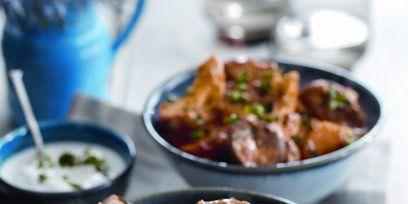 Food, Cuisine, Dish, Tableware, Dishware, Recipe, Bowl, Meat, Serveware, Ingredient,