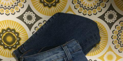 Blue, Denim, Pattern, Jeans, Textile, White, Pocket, Design, Circle, Button,