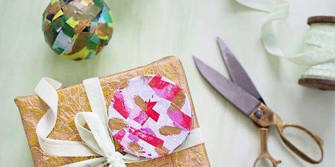 Kitchen utensil, Paper product, Scissors, Cutlery, Craft, Paper, Present,
