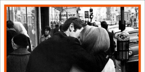 Interaction, Monochrome, Black-and-white, Street fashion, Poster, Advertising, Monochrome photography, Photo caption,