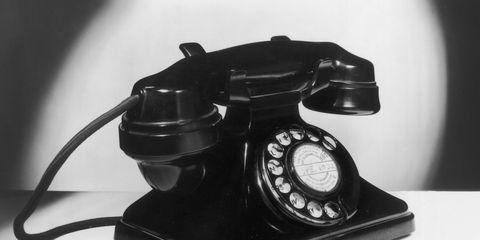 Corded phone, Telephone, Telephony, Communication Device, Gadget, Still life photography, Technology, Machine, Circle, Monochrome photography,