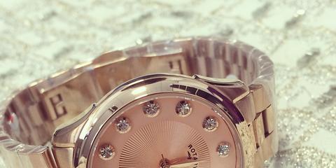 Product, Analog watch, Brown, Watch, Photograph, Glass, Watch accessory, Font, Metal, Fashion,