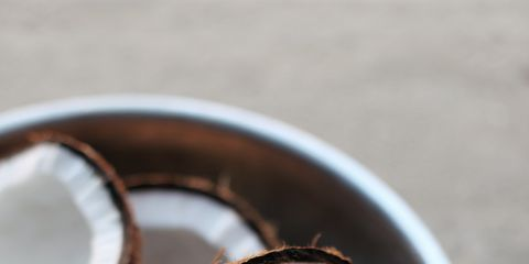 Brown, Wood, Serveware, Coconut, Circle, Still life photography, Teacup, Kitchen utensil,