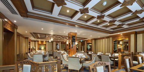 Lighting, Interior design, Room, Furniture, Ceiling, Table, Floor, Interior design, Hall, Chair,