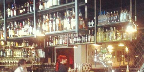 Barware, Glass bottle, Alcohol, Bottle, Drinking establishment, Drink, Alcoholic beverage, Tavern, Pub, Distilled beverage,