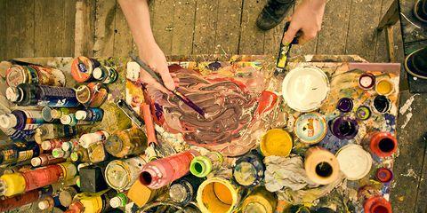 Colorfulness, Paint, Collection, Art paint, Aluminum can,