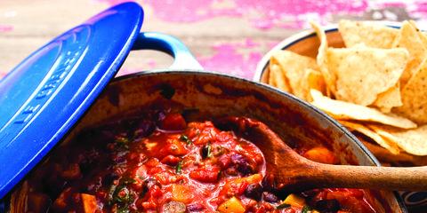 Food, Cuisine, Totopo, Dish, Recipe, Purple, Condiment, Tortilla chip, Bowl, Corn chip,