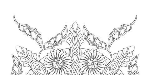 Line art, Pattern, Textile, Design, Symmetry, Pedicel, Visual arts, Ornament, Motif, Doily,