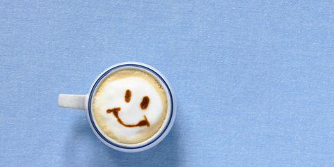 Caffè macchiato, Coffee, Caffeine, Cup, Smile, Drink, Espresso, Coffee cup, Food, Button,