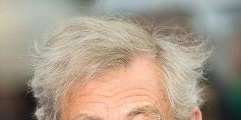 Ear, Cheek, Hairstyle, Collar, Skin, Chin, Forehead, Eyebrow, Dress shirt, Wrinkle,