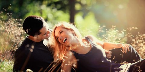 Grass, Happy, People in nature, Facial expression, Interaction, Love, Sunlight, Flash photography, Romance, Prairie,