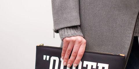 Sleeve, Denim, Textile, Jeans, Font, Street fashion, Pocket, Active shirt, Button,