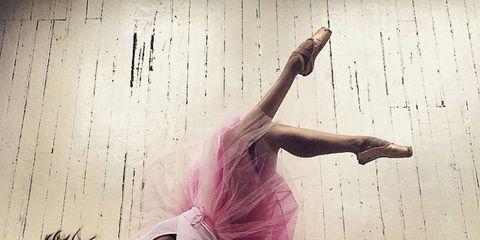 Pink, Elbow, Purple, Dancer, Magenta, Waist, Muscle, Choreography, Athletic dance move, Performance art,