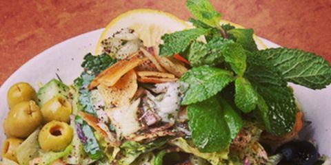 Food, Salad, Produce, Tableware, Ingredient, Vegetable, Leaf vegetable, Cuisine, Recipe, Natural foods,