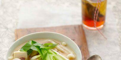 Soup, Food, Cuisine, Ingredient, Alcohol, Drinkware, Barware, Tableware, Drink, Alcoholic beverage,