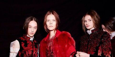 Fashion, Costume, Maroon, Costume design, Red hair, Vintage clothing, Makeover, Victorian fashion, Fashion design, Velvet,
