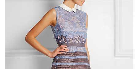 Clothing, Blue, Sleeve, Dress, Shoulder, Textile, Standing, Human leg, Joint, One-piece garment,