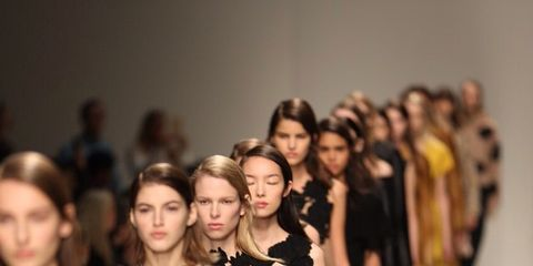 People, Fashion show, Dress, Fashion model, Style, Waist, Runway, Fashion, Youth, Street fashion,