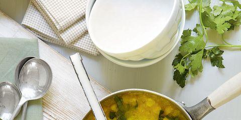 Dishware, Food, Serveware, Ingredient, Tableware, Kitchen utensil, Cutlery, Spoon, Recipe, Household silver,
