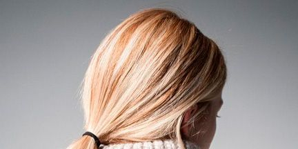 Clothing, Hairstyle, Shoulder, Textile, Joint, Style, Back, Fashion, Blond, Neck,