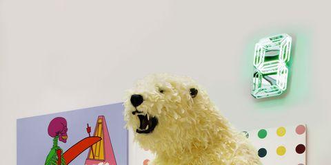 Organism, Vertebrate, Bear, Carnivore, Fur, Snout, Toy, Visual arts, Polar bear, Illustration,