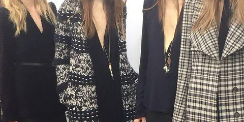 Clothing, Sleeve, Collar, Outerwear, Pattern, Fashion, Street fashion, Black, Blazer, Little black dress,