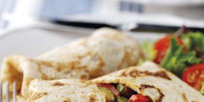 Food, Cuisine, Dishware, Plate, Dish, Tableware, Flatbread, Breakfast, Recipe, Kitchen utensil,