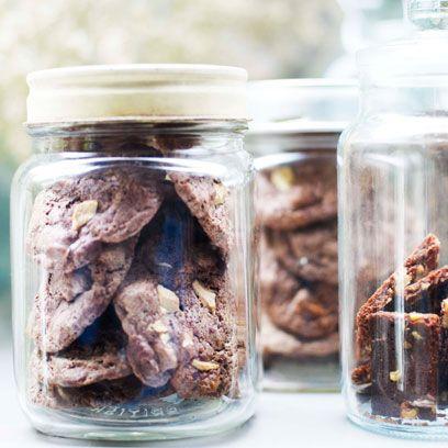 Snack, Food, Mason jar, Ingredient, Cookie, Cuisine, Plant, Food storage containers,