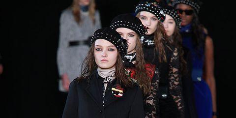 Hat, Outerwear, Coat, Style, Hair accessory, Headpiece, Headgear, Fashion accessory, Fashion, Plaid,
