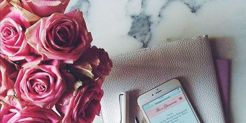Petal, Pink, Flower, Mobile phone, Portable communications device, Communication Device, Mobile device, Flowering plant, Bouquet, Telephony,