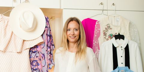Sleeve, Shoe, Textile, Pink, Style, Clothes hanger, Pattern, Fashion, Beige, Sandal,