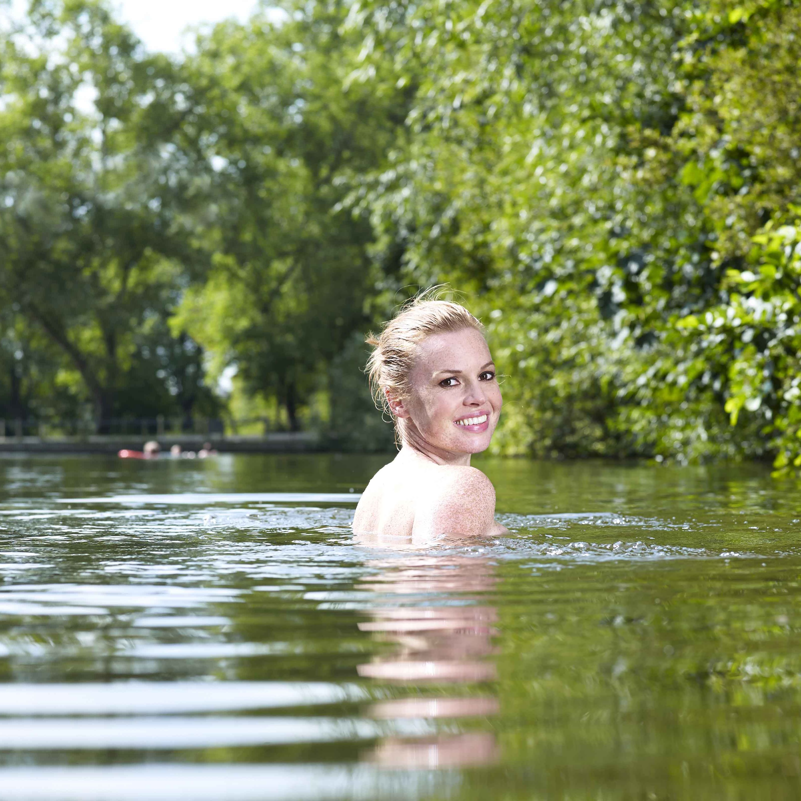 Esther Walker Goes Naked Swimming Skinny Dipping