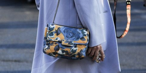 Clothing, Bag, Textile, Joint, Style, Street fashion, Pattern, Fashion accessory, Fashion, Luggage and bags,