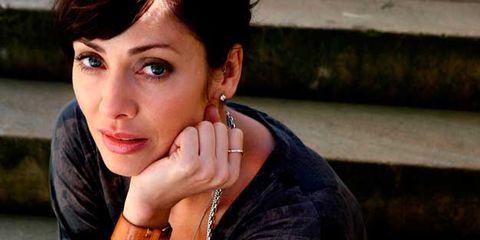 Ear, Lip, Hairstyle, Wrist, Earrings, Eyelash, Fashion accessory, Style, Jewellery, Body piercing,