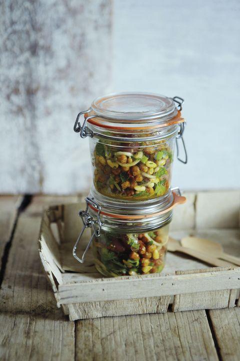 Mason jar, Food, Dish, Cuisine, Ingredient, Plant, Pickling, Produce, Vegetable, Preserved food,