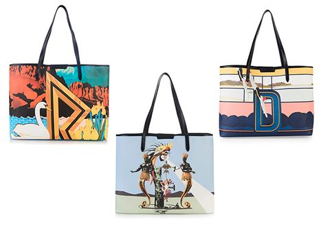 2cf256bb31 ... especially monogrammed accessories so these new totes shot straight to  the top of our wish list. The queen of digital prints, Mary Katrantzou, ...