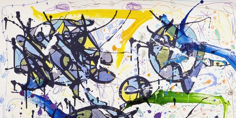 Blue, Art, Illustration, Painting, Modern art, Graphics, Visual arts, Artwork, Ink, Creative arts,