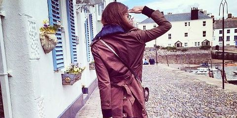 Trousers, Textile, Coat, Outerwear, Bag, Style, Jacket, Street fashion, Luggage and bags, Fashion,