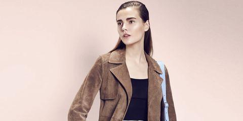 Coat, Sleeve, Human body, Collar, Shoulder, Textile, Joint, Outerwear, Jacket, Bag,