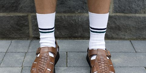 Footwear, Brown, Green, Human leg, Joint, White, Style, Sock, Tan, Fashion,